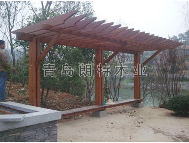 青岛防腐木廊架