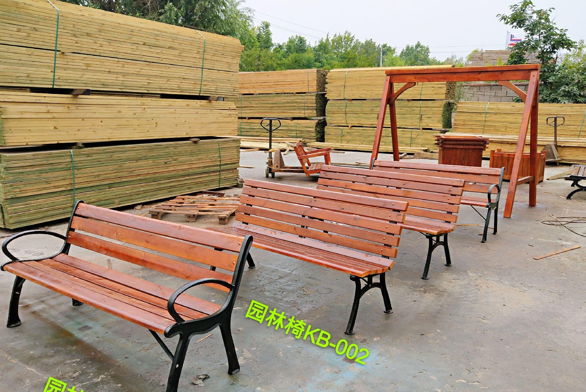 防腐木园林椅