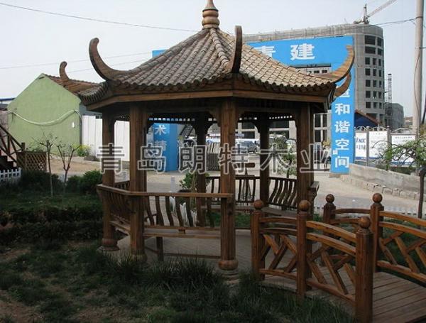 防腐木景亭