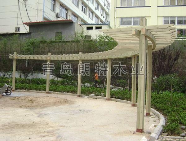 防腐木廊架