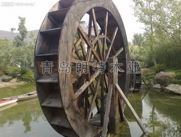 黄岛防腐木水车