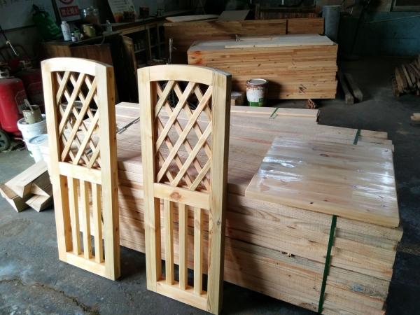 黄岛防腐木栅栏门